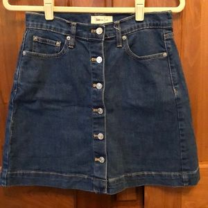 GAP 1969 Denim Button Front Mini Skirt Size 27P